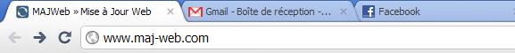 Onglets dans le navigateur Google Chrome