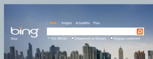 Home page de Bing.com Moteur de recherche