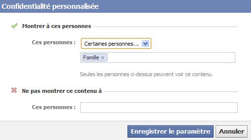 gérer sa vie privée sur facebook