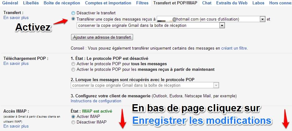 Migration Gmail vers Gmail: transfert des emails