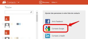 Importer-contacts-Google-Outlook
