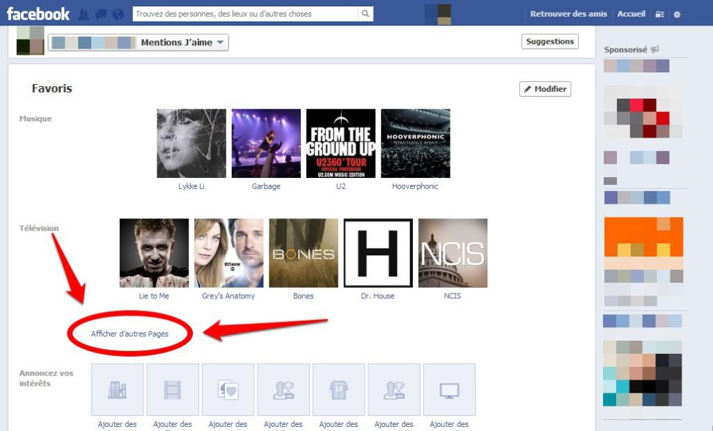 Comment accéder aux autres j'aime sur Facebook