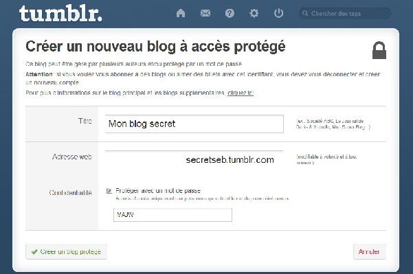 Comment créer un blog privé sur tumblr