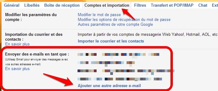 Gmail - Création alias avec adresse personnalisée