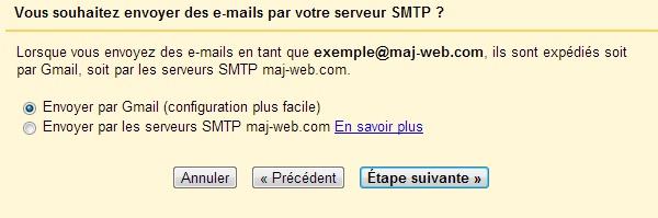 Technique d'envoi d'email pour un alias sur Gmail