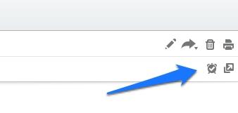 Trouvez l'icone pour ajouter des rappel sur vos notes Evernotes