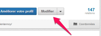 Accéder au modificationx LInkedIn
