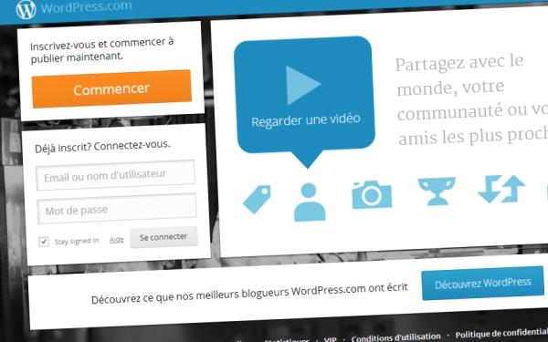 Créer un site avec WordPress.com
