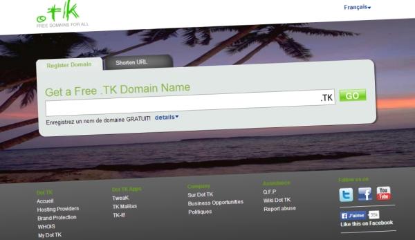 Tokelau et dot.tk : paradis du nom de domaine gratuit ?