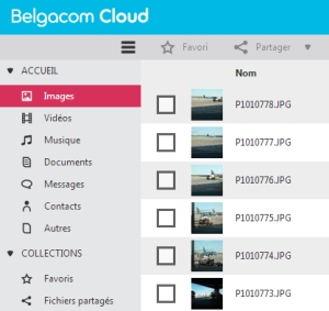 Test de Belgacom Cloud avec beaucoup de photos