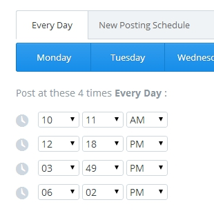 Mon horaire de publication via Buffer