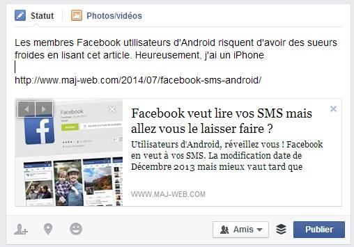 Personnalisez votre publication sur Facebook