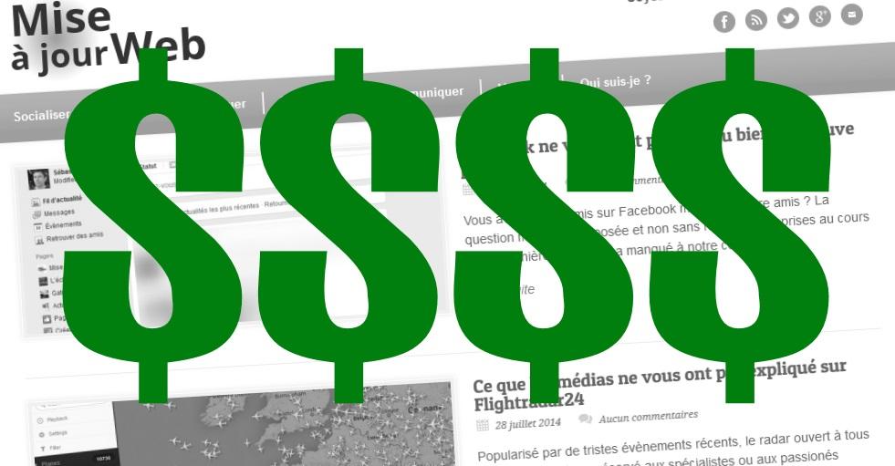 Combien ça coûte un blog comme Mise à Jour Web ?