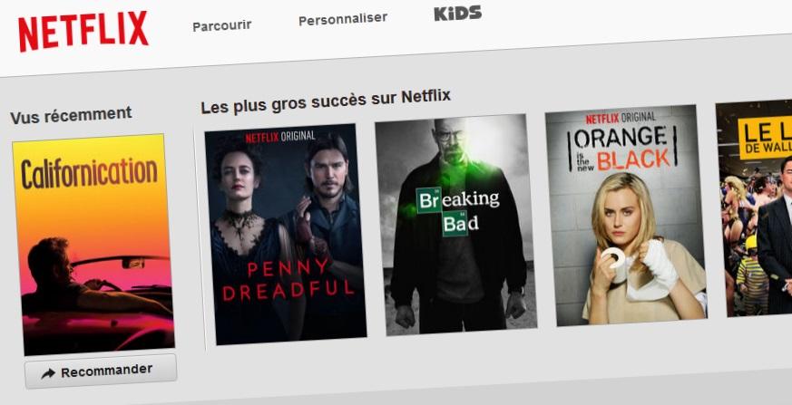 Netflix en pratique et en direct de mon salon