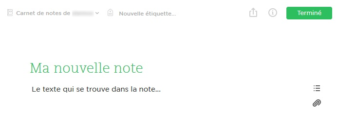 Evernote sans distraction avec sa nouvelle interface web