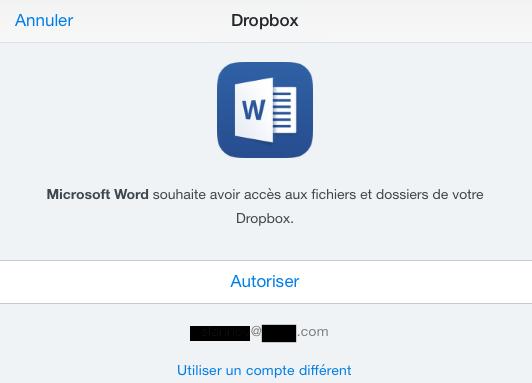 Autorisation-connection-office-dropbox