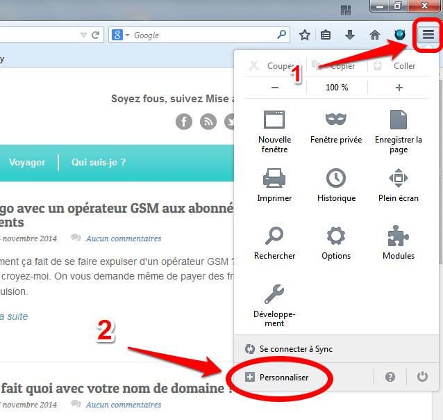 Firefox-personalisation