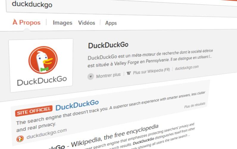 J'ai oublié Google pour DuckDuckGo pendant 1 mois