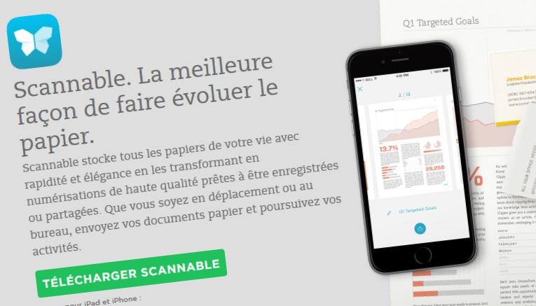 Scanner avec votre smartphone grâce à Scannable d'Evernote