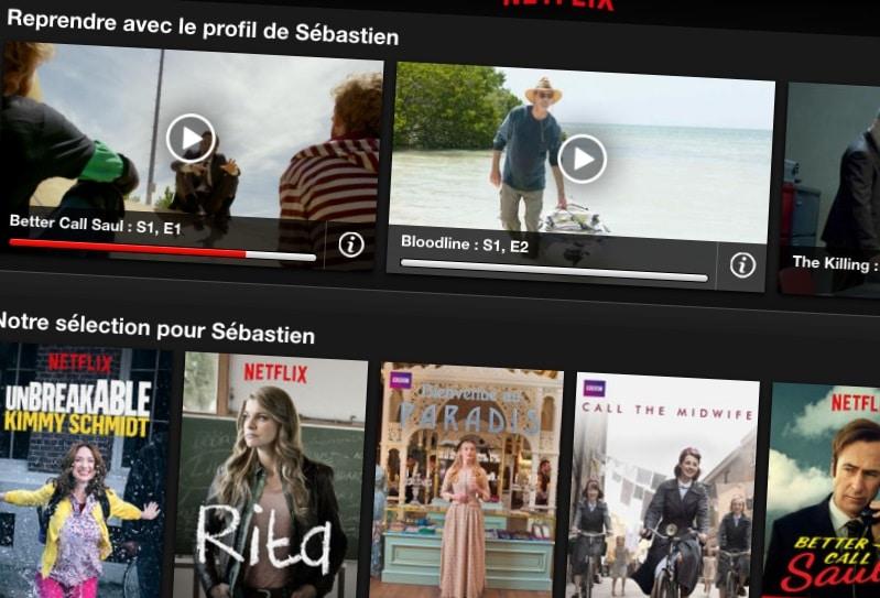 Netflix: supprimez vos séries / films en cours de lecture