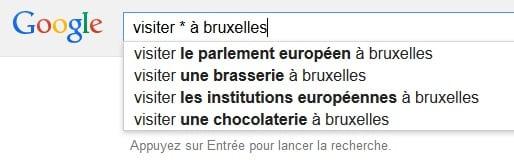 Plus de suggestions sur Google avec astérisques et sous-tirets