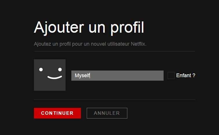 Nouveau profil sur votre compte