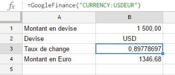 Taux de conversion entre EUR et USD