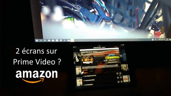Deux écrans sur Amazon Prime Video