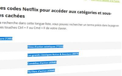 Créez des liens à la volée vers Netflix avec Excel
