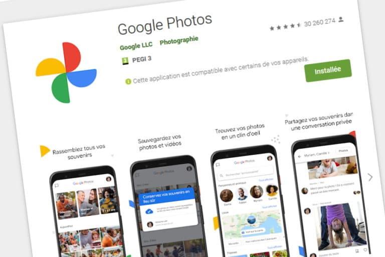 Application Google Photos