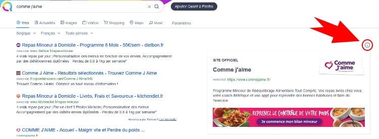 Publicité de type Brand Premium par le moteur de recherche Qwant